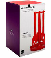 Zak Designs Kitchen to Table 4-Piece Preppy Serving Utensils Set with Stand NEW