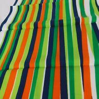 "Blue Green Orange White Striped Sticks Falling Pattern Square Scarf 25.5""x26.5"""