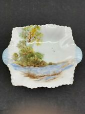 SHELLEY ENGLAND FINE BONE CHINA OLD MILL  ASHTRAY SPOON REST PIN TRAY 13669