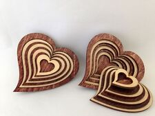 "3"" Laser Cut Wood Heart Shaped Basket with Lid"
