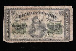 1870 Dominion of Canada. 25 Cents. Plain.