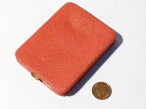 Vintage Red Leather OPEL Classic German Car Giveaway Advertising Cig Case