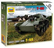6258 sovietica T-60 LIGHT TANK-ZVEZDA 15mm 1/100-WW2-FLAMES OF WAR-NUOVO NELLA SCATOLA