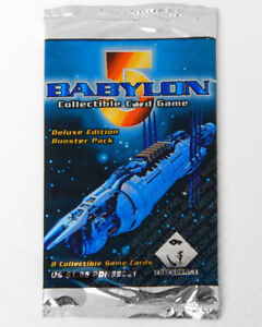 Babylon 5 CCG Deluxe Edition 8-Card Booster Pack Sealed New Collectible Game
