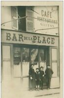 metier .n° 40324 . carte photo.cafe restaurant gaston.bar de la plage