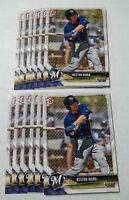 12 2018 Bowman Draft KESTON HIURA card lot MILWAUKEE BREWERS Baseball Paper #49