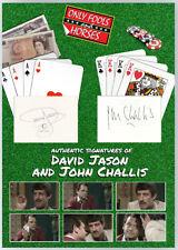 More details for david jason & john challis only fools & horses signed a3 photo mount aftal uacc