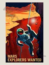 Nasa poster espace exploration job annonce explorateurs art imprimé HP3817