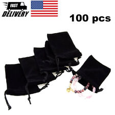 100 Small Gift Bag Velvet Fabric Jewelry Storage Bag Gift Storage Packaging Bag