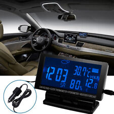 Lcd Digital Car Clock Thermometer Hygrometer Weather Forecast Multifunction