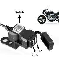 Dual USB 12V moto guidon téléphone chargeur de sortie