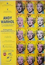 ANDY WARHOL AFFICHE  MULTI MARILYN MONROE pour l'exposition 1995
