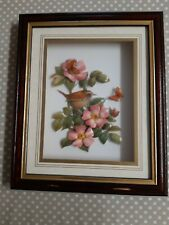 More details for 3d framed collage/picture of flowers and bird