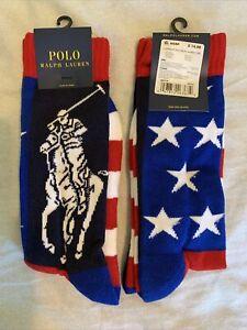 "Polo Ralph Lauren ""Patriotic Player"" Pony Star USA Olympics Stadium P-Wing Socks"