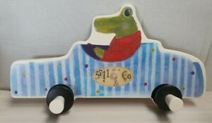 IKEA Fabler Wall Mounted Children's Clothing Hook Crocodile in Car 21576 30x15cm