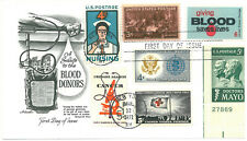 US FDC 1971 Fleetwood Multi-Stamp First Day Giving Blood 7 Stamps Red Cross |