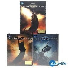 Batman Begins/ The Dark Knight / Rises Blu-ray Steelbook One-Click Boxset HDZETA