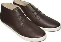 Fred Perry Men's Byron Mid Leather Shoes Trainers B7434-325 - Dark Chocolate