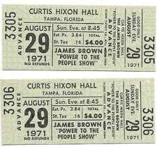 James Brown Concert Ticket Set of 2 1971 Tampa Green