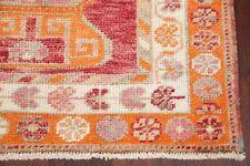 Geometric 12 ft Orange Pink Red Kazak Turkish Oriental Stair Runner Rug 3' x 12'