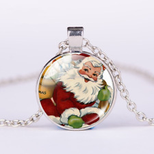 Christmas gifts Santa Claus statement necklace chain animation retro jewelry