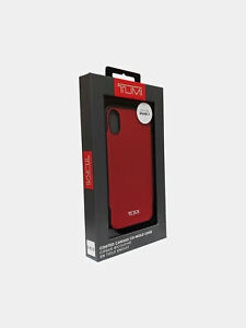 TUMI Coated Canvas Co-Mold Case for Apple iPhone X/Xs - Red