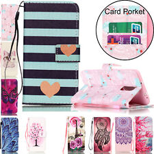 Magnetic Stand Leather Card Holder Wallet Flip Case Cover for Huawei Xiaomi