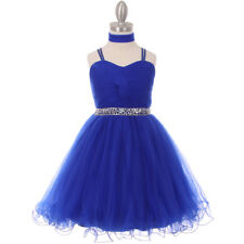 ROYAL BLUE Flower Girl Dress Dance Birthday Formal Party Wedding Graduation Prom