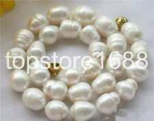 huge 18inch12-14mm baroque south sea white pearl necklace