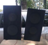 "Pair Of VTG Sansui Classique DA-S555 +10"" Passive Radiator 2 Way Speakers"