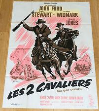 Affiche de cinéma originale : LES DEUX CAVALIERS de JOHN FORD (1961)