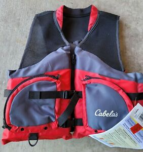 Cabelas Men's L/XL 3D Red Mesh Life Jacket New with Tags Type III PFD NWT