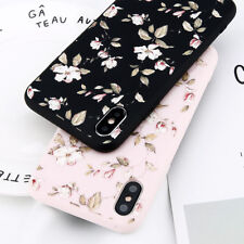 Floral Pattern Rubber Soft TPU Silicone Case Cover For iPhone X 8 6s 7 Plus 5 SE