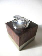 Ronson accendino da tavolo in legno e argento