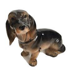 C 1880 Antique Sitzendorf Porcelain Dachshund Dog Figurine