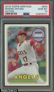 2018 Topps Heritage Shohei Ohtani Action Angels RC Rookie PSA 10 GEM MINT