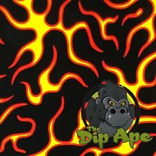 OUTLINE FLAMES HYDROGRAPHIC WATER TRANSFER HYDRO FILM DIP APE