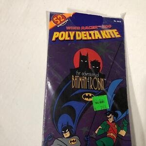 "Vintage 1997 BATMAN & ROBIN 52"" Superflyer 500 Poly Delta Kite DC Toy Biz  - New"