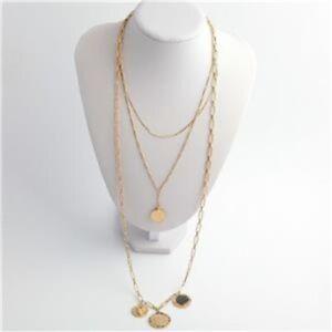 Stella & Dot Dez Layered Coin Necklace Wear 4 Ways