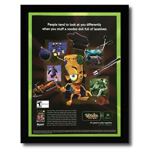 Voodoo Vince Framed Print Ad/Poster Official Original Xbox Video Game Promo Art