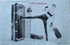 PUBLICITE LOUIS VUITTON KARL LAGERFELD MONOGRAM MALLE BOXE DE 2014 FRENCH AD PUB