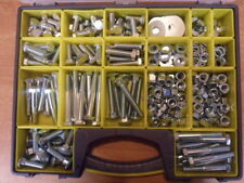 M12 BOXED ASSORTMENT, C/W HEX SETS/BOLTS, NUTS & WASHERS, 400 + PIECES.