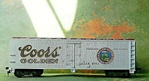 """Roundhouse Beer Reefer Billboard ~ ADOLPH COORS ~ """"Red Ring"""" Rd# ADCX  8740 - HO"""