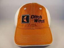 Ditch Witch Vintage Adjustable Strap Hat Cap Orange White
