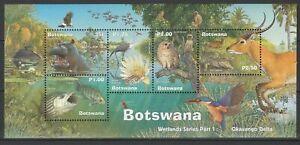 Botswana 2000 Fauna, Animals, Birds, Fish MNH Block