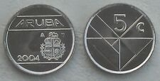 Aruba 5 Cents 2004 p1 unz.