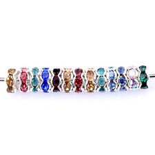 20 perles intercalaire strass multicolore strass acrylique 8 mm