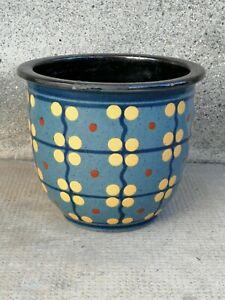 cache pot JACQUET poterie savoie art populaire savoyard terre cuite vase