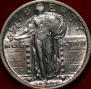 Uncirculated 1917-S San Francisco Mint Silver Standing Liberty Quarter