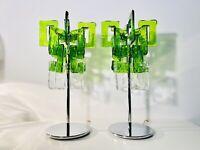 🔴 Set 2 lampade Charlie Design Carlo Nason per Mazzega anni 80 vetro di Murano
